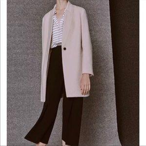 pink club Monaco wool coat